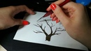 Сказочное дерево гуашью. Простой рисунок
