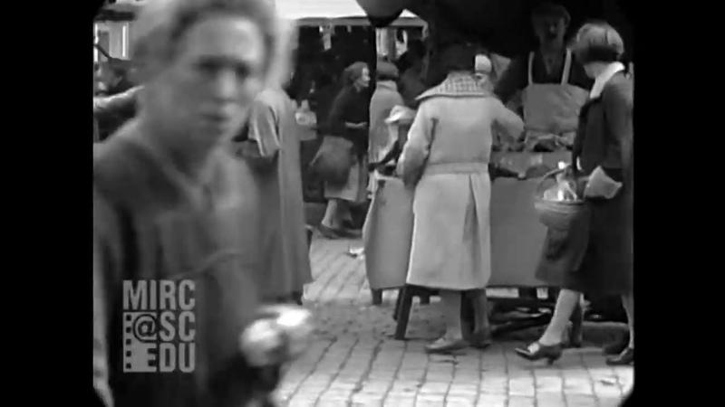 1929 - Street Scenes in Brussels, Belgium (real sound)