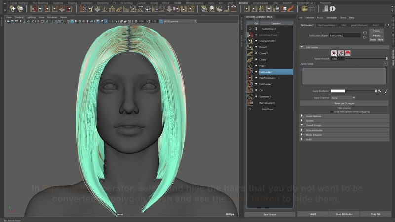 Ornatrix Maya v2.3.8 highlights