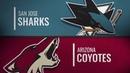 San Jose Sharks vs Arizona Coyotes Dec 08 2018 NHL Game Highlights Обзор матча
