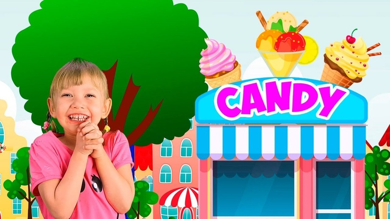 Let`s go shopping song for kids with Alena and Mom Nursery Rhymes Compilation by Chiko TV
