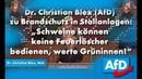 """Dr. Christian Blex (AfD) : """"Schweine können keine Feuerlöscher bedienen, werte Grüninnen!"""""""