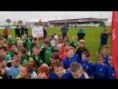 Детишки на встрече с футболистами