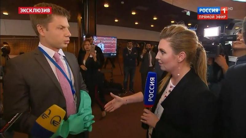 Клоун Гончаренко УСТРОИЛ цирк в прямом эфире российского ТВ