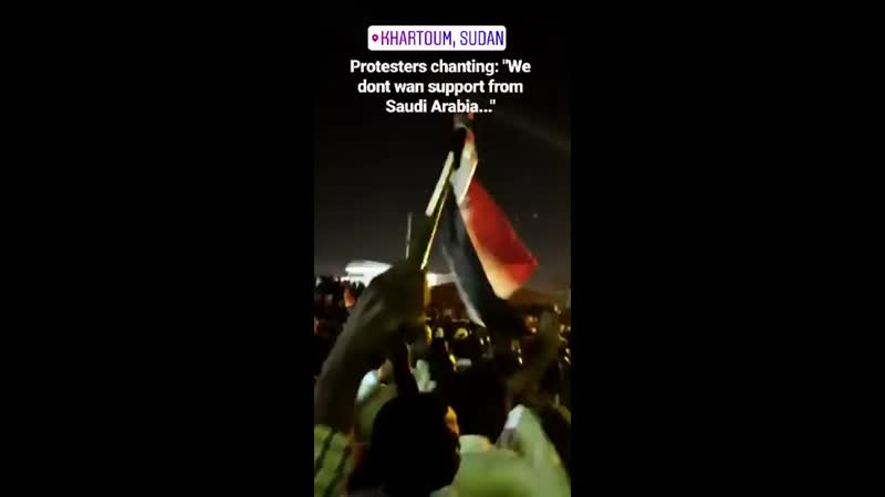 Saudi Arabia and UAE donated an aid package of 3 billion to Sudan on Sunday Tonight in Khartoum protesters are chanting we
