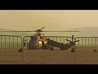 Аварийная посадка военно-транспортного вертолета Atlas Oryx M-1