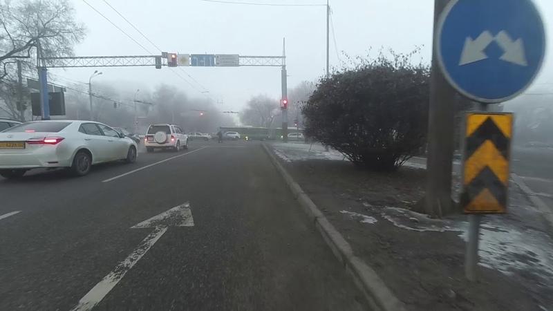 Алматы Велосипед Зима 18 января утро пятница