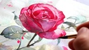 WATERCOLOR TUTORIAL FOR BEGINNERS: How To Paint A Rose In 5 Steps!
