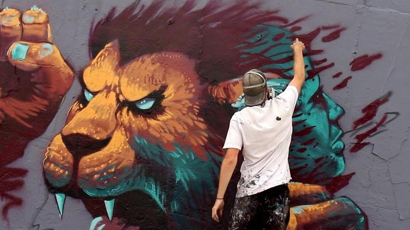 Graffiti Mural Jam in Berlin! ft RAWS, STAN, KIPTOE | KiptoePaintsTheWorld
