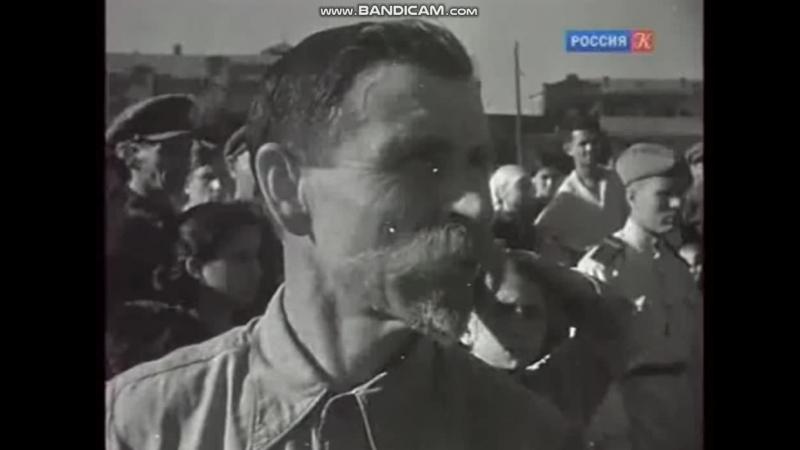 Пособников фашистов бандеровцев вешали как мразоту 1945 г