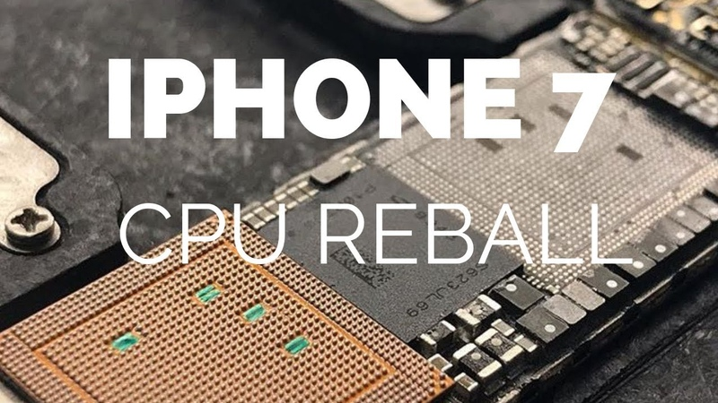IPhone 7 no backlight, CPU REBALL