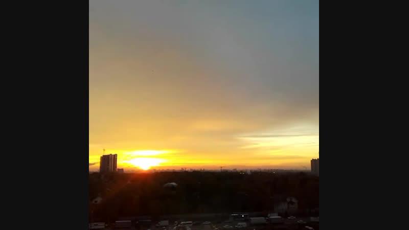 Ускоренный восход в Трёхгорке
