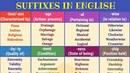 Suffixes Learn Common Suffixes to Increase Your English Vocabulary