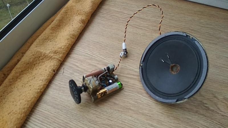 приемник реген на TA7642 с УНЧ от 1.5 вольт
