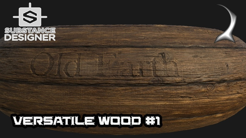 Versatile wood generator tutorial - part 1 (texturing) [Substance Designer]