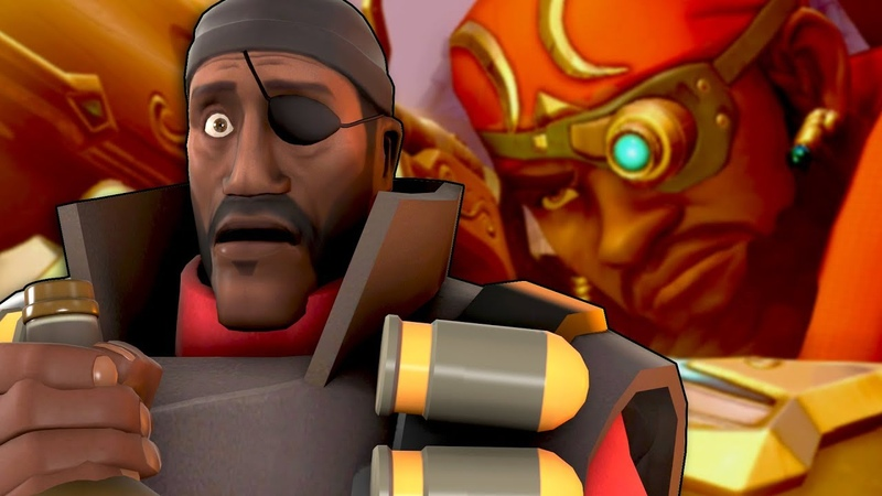 TF2 Demoman but he turned into a Medic and is now called Baptiste