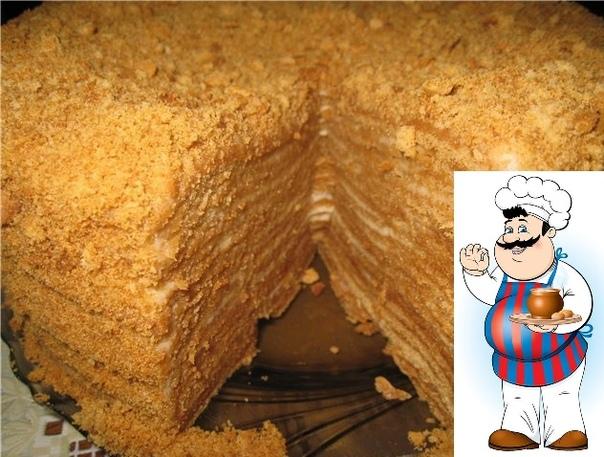 медовик со сливочным кремом ингредиенты: для медового бисквита (форма 20 см. в диаметре): 3 крупных яйца (комнатной t) 100 г сахара 100 г меда 1 ч ложка соды 150 г муки для сиропа: 1 ч ложку
