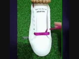 Красиво шнуруем ботинки, кроссовки, кеды