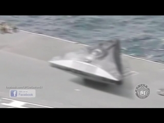 Triangle shaped UFO spotted on US Aircraft Carrier in Medite