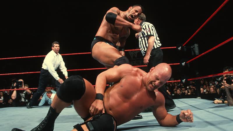 WWE Mania WrestleMania XV The Rock c vs Stone Cold Steve Austin WWF Championship