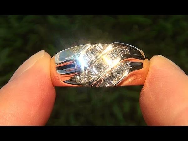 Estate Mens VS1F Natural Untreated Diamond 14k Yellow Gold Gents Ring - C636