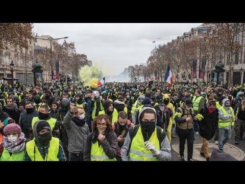 LIVE: Französische Gewerkschaften demonstrieren aus Solidarität mit Gelbwesten