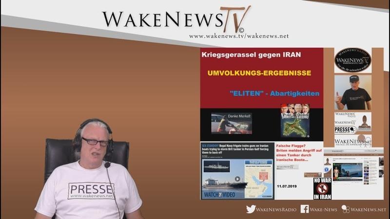 Kriegsgerassel gegen IRAN, UMVOLKUNGS-ERGEBNISSE, ELITEN-Abartigkeiten - Wake News Radio/TV