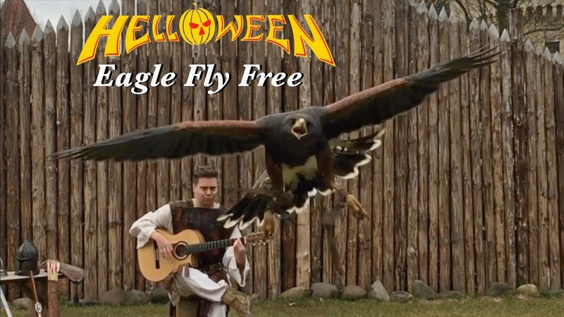 Eagle Fly Free HELLOWEEN Acoustic Classical Fingerstyle guitar by Thomas Zwijsen