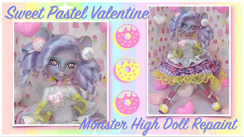 Sweet Pastel Valentine Custom   Art Doll   OOAK   Monster High Custom   Doll Repaint