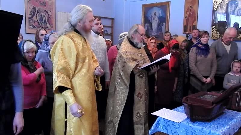 Мощи Святого Праведного Воина Федора Ушакова прибыли В Храм Киселихинского госпиталя. Службу служит Отец Александр!