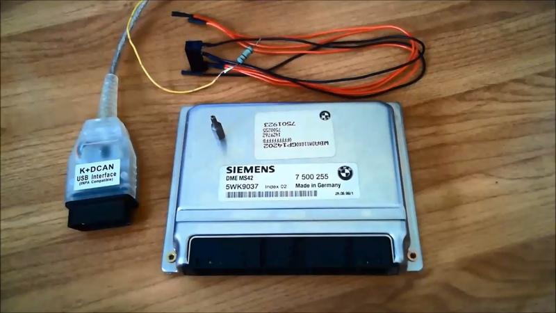 Чип тюнинг БМВ! Как считать полный дамп ЭБУ Siemens MS42, MS43 Reading Full-Flash Siemens MS42, MS43