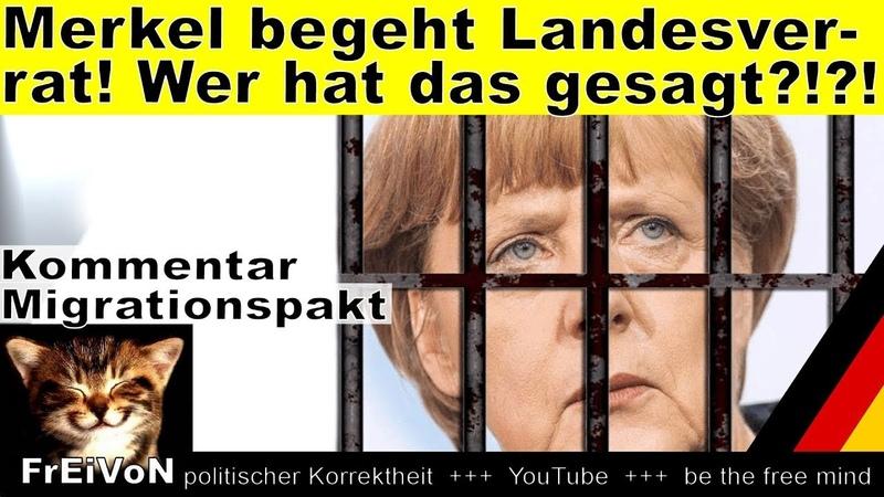 Merkel begeht Landesverrat! Wer hat das gesagt!! * Migrationspakt GCM * HD