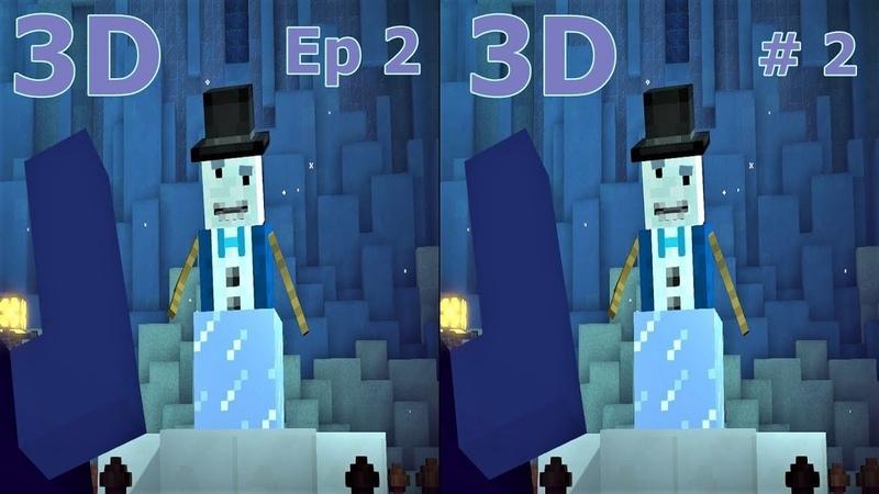 3D VR video Minecraft Story Mode S 2 Ep2 2 3D SBS VR box google cardboard