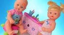 Куклы Пупсики Ненуко и ванная комната/ умываемся, рисуем тату/ Pretend play with baby Doll/Зырики ТВ