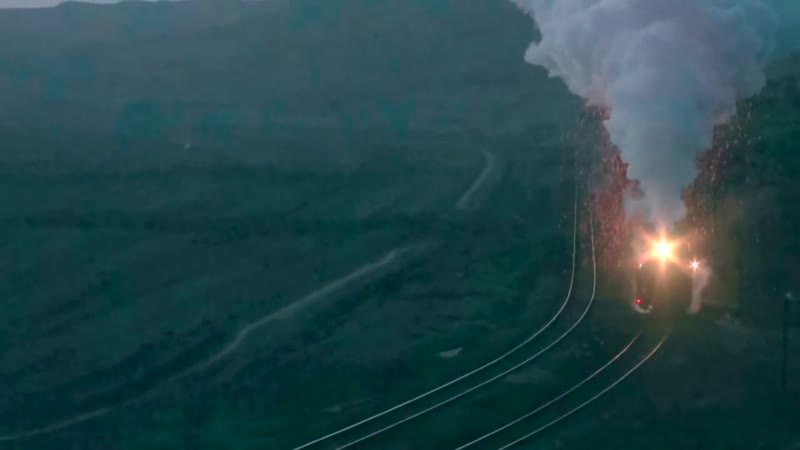 Train Smoke Plume Coal Spark Ash