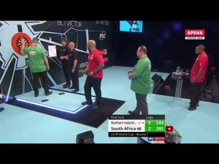 Northern Ireland vs South Africa (PDC World Cup of Darts 2019 / Round 1)