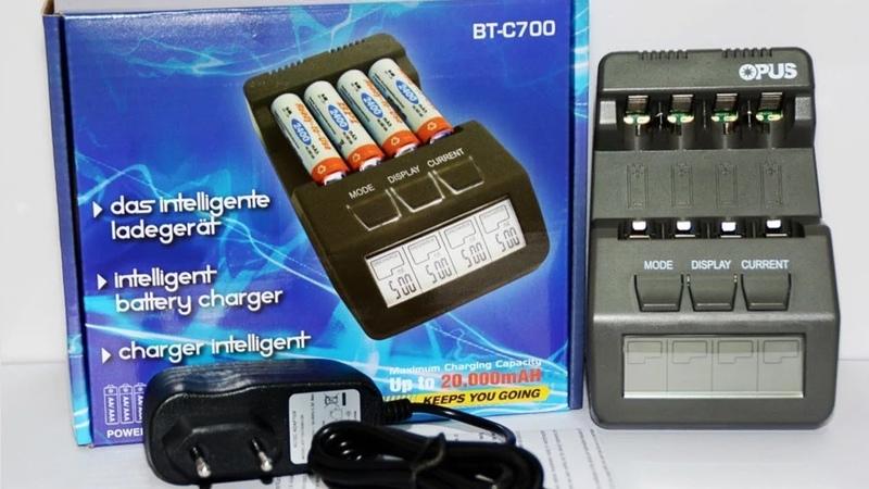 Обзор зарядного устройства OPUS BT-C700 версии V2.2