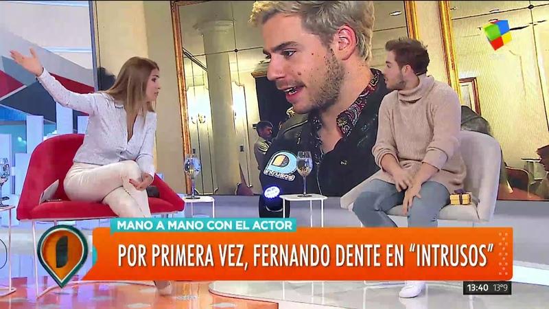 El actor Fernando Dente pasó por Intrusos