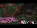 RE2 Remake Giant Alligator Gameplay