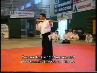 Morihiro Saito Sensei парная практика с Дзё