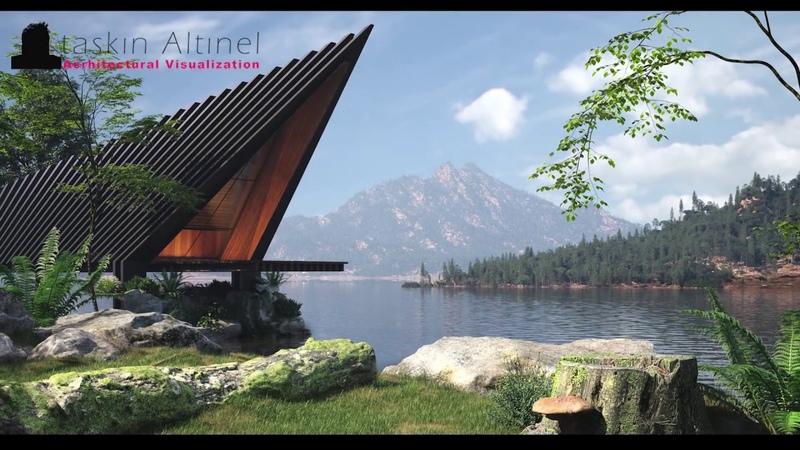 3D Studio Max - Speed modeling - Lake house