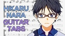 Shigatsu wa Kimi no Uso (Your Lie in April) - Hikaru Nara Opening Guitar Tutorial Guitar Lesson TABS
