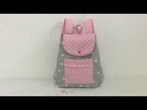 Coudre un petit sac à dos pour petite fille 3/4 ans Tuto Couture Madalena