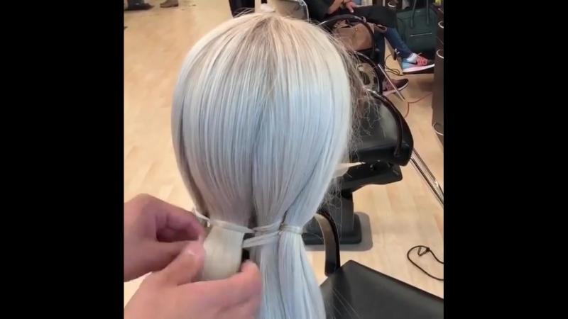 Интересное плетение прически