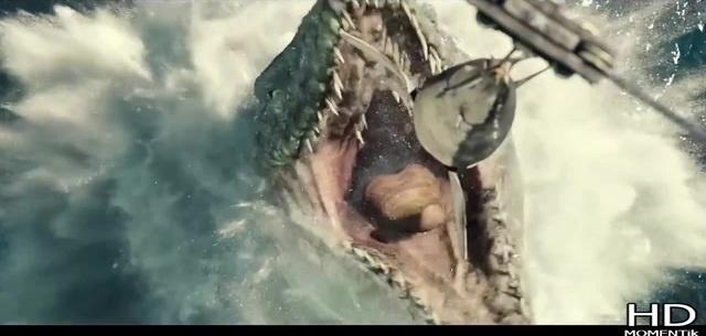Мозазавр обедает Момент из фильма Мир Юрского периода