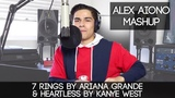 7 rings by Ariana Grande &amp Heartless by Kanye West Alex Aiono Mashup