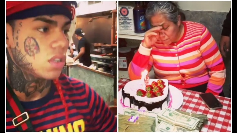6ix9ine Mom Gets Emotional After Surprising Her $1M Cash For Bday