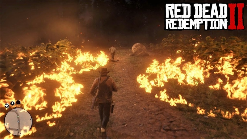 Red Dead Redemption 2 - Сжигание табачных плантаций Греев с помощью самогона | Аромат отличного табака