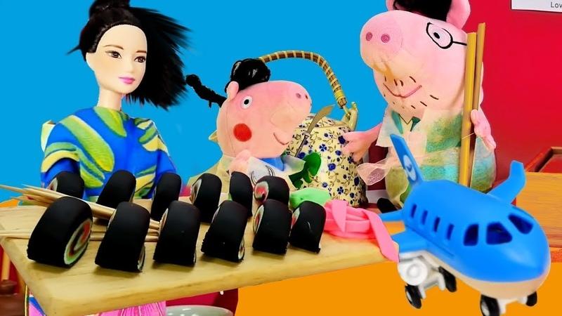 Piggy Peppa visita los países Videos de juguetes peluches