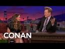 Elizabeth Olsen Teaches Conan Russian Curse Words CONAN on TBS